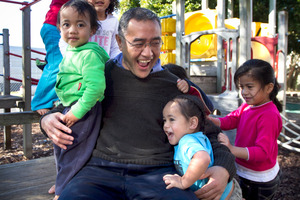 Society president Nuku Rapana at the Pukapuka community's childcare centre in Mangere. Photo / Natalie Slade