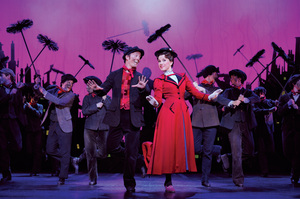 Matt Lee as Bert, Verity Hunt Ballard as Mary Poppins. Photo / Supplied