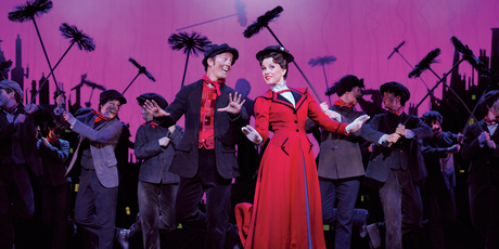 Matt Lee as Bert, Verity Hunt Ballard as Mary Poppins. Photo / Supplied