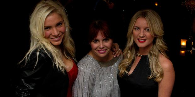Aja Rock,Jules Armishaw and Casey Green at the Woman's Weekly 80th Birthday bash, held at The Wharf. Photo / Sarah Ivey