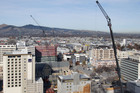 Christchurch with cranes dominating the CBD. Homeowners in the earthquake-devastated city may appeal their zoning decision. Photo / Geoff Sloan