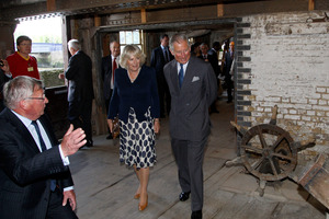 Britain's Prince Charles, right, accompanied by his wife Camilla, the Duchess of Cornwall. Photo / AP