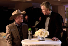Larry Hagman as J.R. Ewing, left, and Patrick Duffy as Bobby Ewing in a