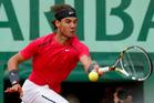 Spain's Rafael Nadal on his way to victory against Serbia's Novak Djokovic. Photo / AP