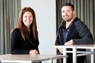Hairdressers Sara Allsop and Jock Robson from Dharma Salon. Photo / NZ Herald