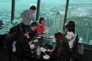 Revolving restaurant Orbit has striking views, but the whole experience lacks the wow factor. Photo / Supplied