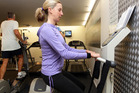 Fleur Bromley gets in some vibration training at The Exercise Room. Photo / Doug Sherring