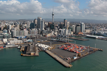 Plans may have been in place to extend Auckland's port 250m into the Waitemata Harbour. Photo / Brett Phibbs