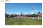 A visualisation for the proposal to turn Victoria Park in Downtown Auckland into a cricket test venue. Photo / supplied.