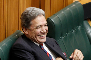 The biggest threat to Shearer's Premier House dreams may be Winston Peters, whose party is holding their annual conference in Palmerston North this weekend. Photo / Supplied