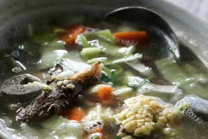 Scotch broth. Photo / Doug Sherring