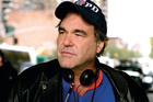 Film maker Oliver Stone on the set of World Trade Centre. Photo / Supplied