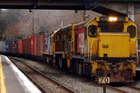 Freight traincan be loud and disruptive at times. Photo / NZPA