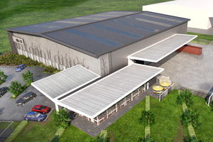 An artist's impression of the 3320sq m complex at Landing Drive.