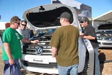Carmakers are aiming at a broad customer base at Fieldays, rather than just farmers. Photo / Jacqui Madelin
