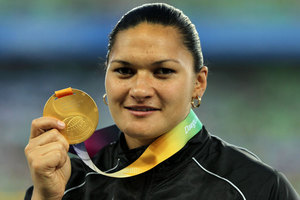 Reigning Olympic shot put champion Valerie Adams is the closest thing you can get to a certainty for a medal given her form and history in the event. Photo / Getty Images.