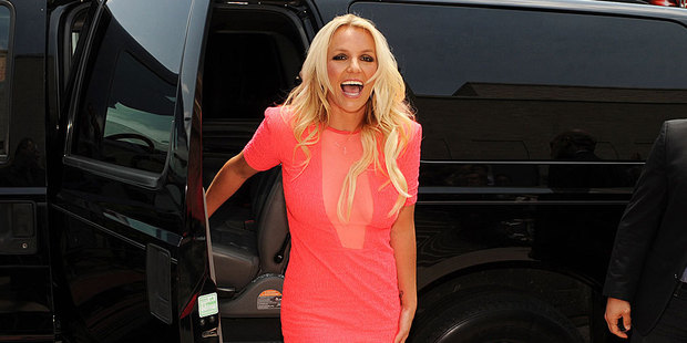 Britney Spears has gone missing twice on the set of X Factor. Photo / AP