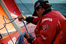 Camper skipper Chris Nicholson is confident that they can recover the lost miles. Photo / ETNZ