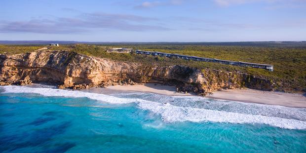 An aerial view of Southern Ocean Lodge on Kangaroo Island, South Australia. Photo / Supplied
