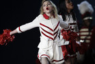 Madonna flashed her Turkey fans during a stop on her MDNA tour. Photo / AP