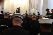 Ceremonies in Wellington yesterday involved US Marine Corps personnel. Photo / Audrey Young