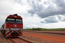The Ghan runs a service between Darwin and Adelaide and hosts an annual Anzac-themed tribute tour. Photo / AAP