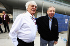 Jean Todt talks with F1 chief Bernie Ecclestone before April's Chinese GP. Photo / Getty Images