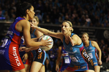 Grace Rasmussen in action for the Mystics. Photo / Getty Images.