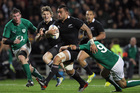 Liam Messam of the All Blacks makes a break. Photo / Getty Images