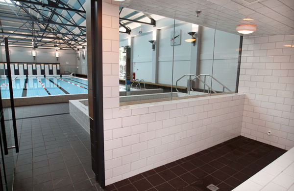 Pictured is the steam room at Auckland's iconic Tepid Baths. The renovated swimming complex and Gymnasium  is set to re-open to the public on Saturday June 23 2012.  The Tepid baths have been closed since early 2010.