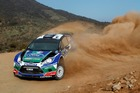 Petter Solberg and Chris Patterson during Rally Mexico in their Ford Fiesta RS WRC. Photo / Supplied
