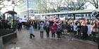 Watch: 'Asset sales' protest in Dunedin