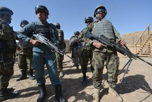 Afghan security forces and coalition troops are responding to the assault. Photo / AFP
