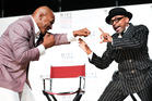 Former heavyweight boxer Mike Tyson and director Spike Lee announce Tyson's Broadway show in New York. Photo / AP