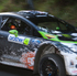 American Ken Block in his Monster World Rally team Ford Fiesta WRC car during the shakedown stage at Inland Rd, Helensville. Photo / Greg Bowker