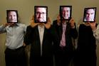 MediaBank directors, from left, Brenden Rolston, Nick Niblett, Ross Blakely and Steve Simpson. Photo / Richard Robinson