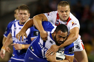 Kiwi-born Sam Kasiano is rumoured to be under consideration for Queensland in State of Origin. Picture / Getty Images