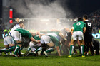 Ireland's scrum grew stronger the longer the match went on. Photo / Getty Images.