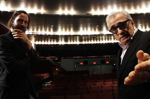 Martin Scorsese and Keanu Reeves in the fim Side by Side. Photo / Supplied