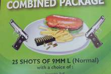 Would you like bullets with that? A Dubai menu special. Photo / Supplied
