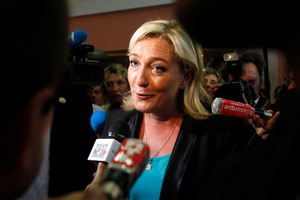 French far-right leader Marine Le Pen has lost her race for a parliamentary seat.  Photo / AP