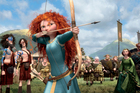 Merida, voiced by Kelly Macdonald, in a scene from 'Brave.' Photo / Supplied