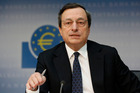 Mario Draghi says the ECB will continue to provide liquidity to solvent banks. Photo / AP