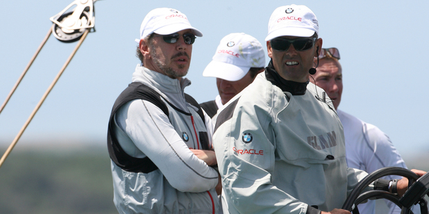 Larry Ellison and Russell Coutts will be based near Whangarei with the Oracle team. File photo / APN