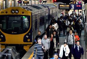 Auckland's Britomart train station. Photo / Doug Sherring