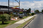 Scene of the crash in Mangere which killed 33-year-old Api Kao Aue. Richard Robinson