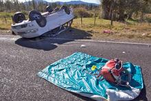 The crash site near Turangi. Photo / Glyn Hubbard