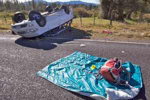 The crash site near Turangi. Photo / Glyn Hubbard
