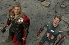 A scene from The Avengers.  Photo / Supplied