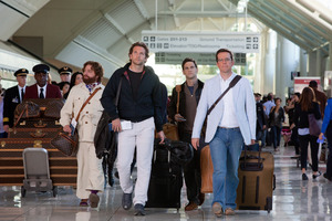 Alan (Zack Galifianakis) , Phil (Bradley Cooper) , Doug (Justin Bartha) and Stu (Ed Helms) in The Hangover II. Photo / Supplied
